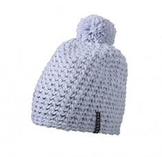 Háčkovaná zimná čiapka s brmbolcom