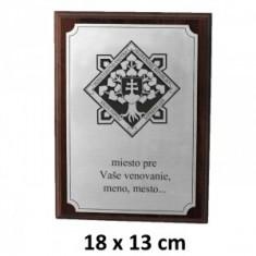 MV plaketa 18x13cm