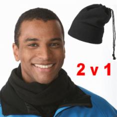 Flísová čiapka a šál 2v1