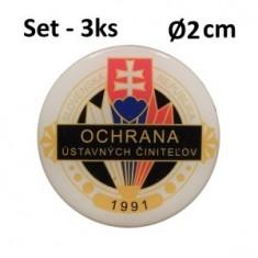 SET 3ks OUC Ø2cm ŽIV nálepka