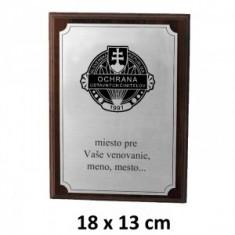 OUC plaketa 18x13cm