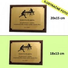 Plaketa 18x13cm gravír
